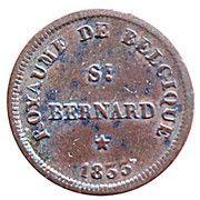 1 Centime - Monnaie fictive (St Bernard) – obverse