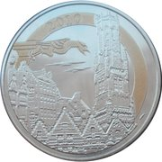 Token - World Heritage (The historic centre of Bruge; colorized) – obverse