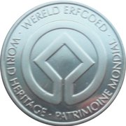Token - World Heritage (The historic centre of Bruge; colorized) – reverse