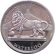 Token - Waterloo (Frederick William III of Prussia) -  reverse
