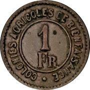 1 Franc - Prison Hoogstraeten (Merxplas) – obverse