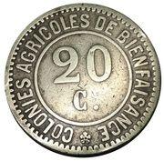20 Centimes - Colonies agricoles de bienfaisance (Hoogsraeten / Merxplas) – obverse