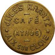 Token - Café Jules Krantz (Aix sur Cloie) – obverse