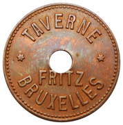 35 Centimes - Taverne Fritz (Bruxelles) – obverse