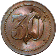 30 Centimes - Taverne Richard (Bruxelles) – reverse