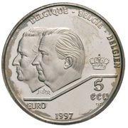 5 ECU - Albert II (Treaty of Rome) -  obverse