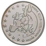 5 ECU - Albert II (Treaty of Rome) -  reverse
