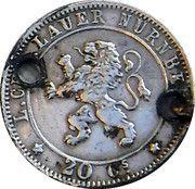 20 Centimes (Lauer Imitation Nürnberg) – reverse
