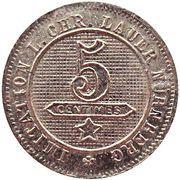 5 Centimes 1889 (Lauer Imitation Nürnberg) – reverse