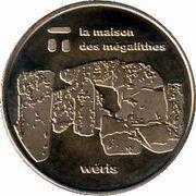 National Tokens Belgian Heritage - Wéris (La maison des mégalithes) – obverse