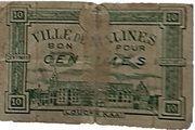 10 Centimes (Belgian Notgeld; Malines) – obverse