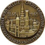 Medal - 100 years of Crédit Communal – reverse