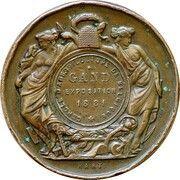 Medal - Exposition du cercle d'arboriculture de Gand – reverse