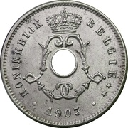 5 Centimes - Léopold II (Dutch text; small date) – obverse