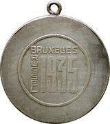 Médaille Roi Albert (Expo Bruxelles 1935) – reverse