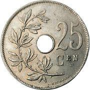 25 Centimes - Albert I (Dutch text) -  reverse