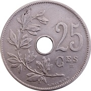 25 Centimes - Léopold II (French text) -  reverse