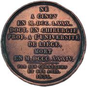 Médaille, Nicolas-Antoine-Joseph Ansiaux. 1835. – reverse