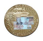 Jeton souvenir du billet de  1000 francs  2997-2001 – obverse