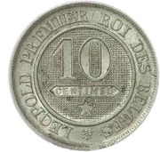 10 Centimes - Léopold I – reverse