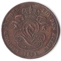 2 Centimes. Belgica. (1833-1865) G881