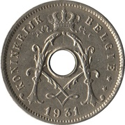 5 Centimes - Albert I (Dutch text; with star) – obverse