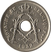 5 Centimes - Albert I (French text; with star) – obverse