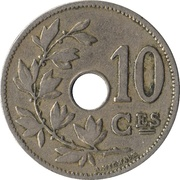 10 Centimes - Léopold II (French text - Small date) – reverse