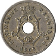 10 Centimes - Léopold II (Dutch text - Small date) – obverse