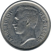 1 Belga / 5 Francs - Albert I (French text) -  obverse