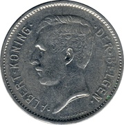 1 Belga / 5 Francs - Albert I (Dutch text) -  obverse