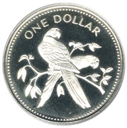 1 Dollar - Elizabeth II (Scarlet Macaw; Silver Proof Issue) – reverse