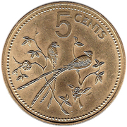5 Cents - Elizabeth II (Fork-tailed Flycatchers) – reverse