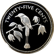 25 Cents - Elizabeth II (Blue-crowned Motmot; Silver Proof Issue) – reverse