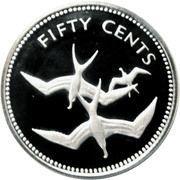50 Cents - Elizabeth II (Frigate Birds; Silver Proof Issue) – reverse