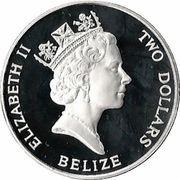 2 Dollars - Elizabeth II (Coronation Jubilee) – obverse