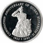 2 Dollars - Elizabeth II (Coronation Jubilee) – reverse