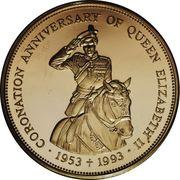 500 Dollars - Elizabeth II (Coronation Jubilee) – reverse