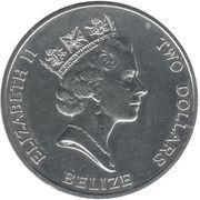 2 Dollars - Elizabeth II (Queen Mother; Silver Proof Issue) – obverse