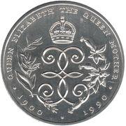 2 Dollars - Elizabeth II (Queen Mother; Silver Proof Issue) – reverse
