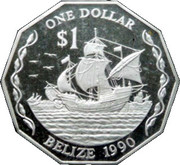 1 Dollar - Elizabeth II (Piedfort) – reverse