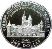 1 Dollar - Elizabeth II (Balmoral Castle) – reverse