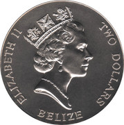 2 Dollars - Elizabeth II (Queen Mother) – obverse