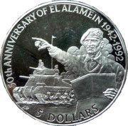5 Dollars - Elizabeth II (Montgomery) – reverse