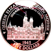 5 Dollars - Elizabeth II (Balmoral Castle) – reverse