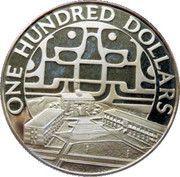 100 Dollars - Elizabeth II (United Nations) – reverse