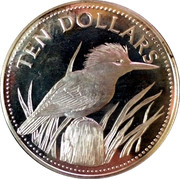 10 Dollars - Elizabeth II (Silver Proof Issue) – reverse