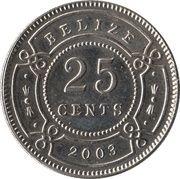 25 Cents - Elizabeth II (1st portrait) -  reverse