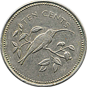 10 Cents - Elizabeth II (Long-tailed Hermit) – reverse