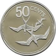 50 Cents - Elizabeth II (Frigate Birds) – reverse